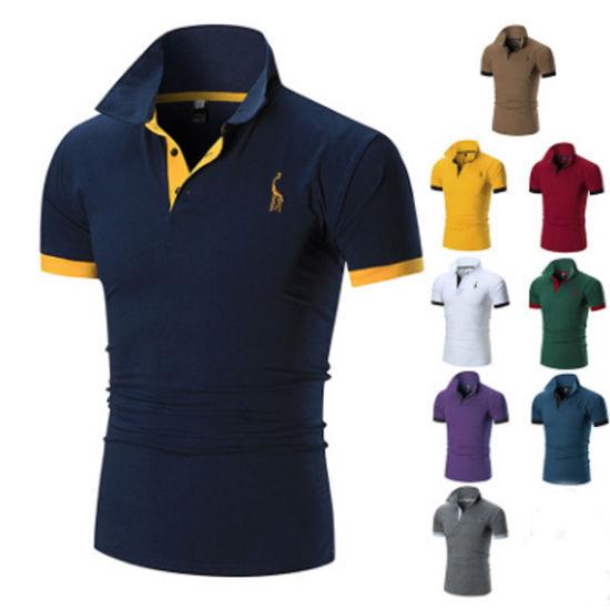 New Mens Polo Shirt Short Sleeve Shirt Jerseys Summer Mens Polo Shirts XXXL,Blue,XXL,China