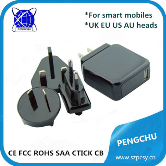 ETL CE FCC RoHS SAA C-tick Approved 5V 2A 10W AC DC Power Adapter