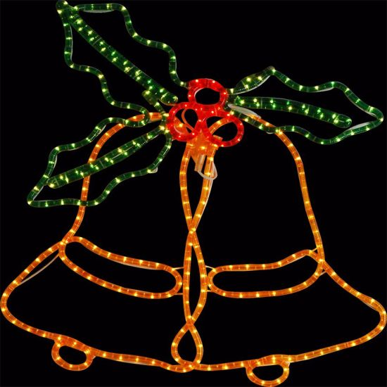 New LED Bell Motif Light Rope Light for Christmas and Holidays