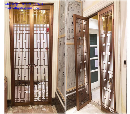China Hotel Indoor Stainless Steel Screen Room Divider Partition