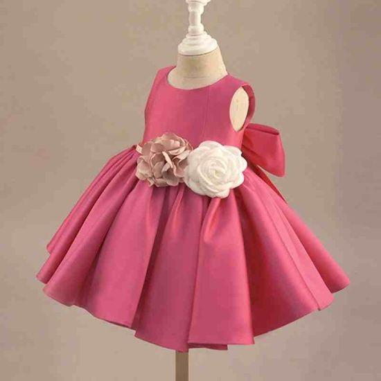 Hot Sale Stain Flower Lovely Little Girl Dress