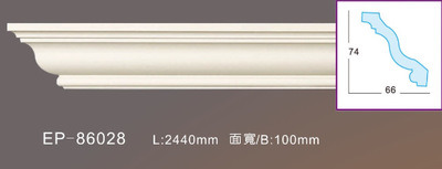Polyurethane Decorative Carving Moulding PU Foam Moulding Interior Cornice Moulding pictures & photos