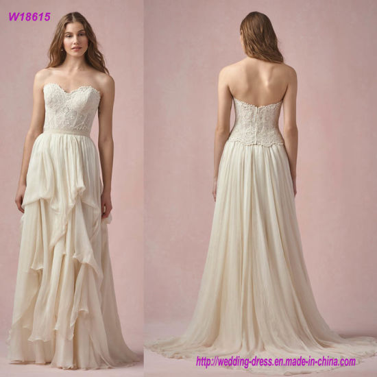 China Wedding Gown with Over a Skirt or Tucked in to Create The ...