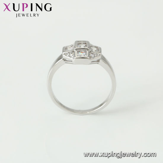 11714 New White CZ Stone Wedding Rhodium Color Diamond Engagement Jewelry Ring pictures & photos