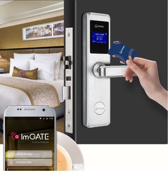 Delicieux Orbita 304 Stainless Steel Key Card Electronic WiFi Bluetooth Mobile APP  Control Hotel Door Lock