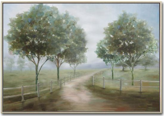 Country Trees Oil Picture with HP for Wall Art GF-P190522108 Size 48X36inch pictures & photos
