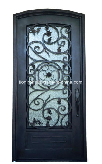 China Customized Wholesale Front Iron Door And Glass Entry Doors