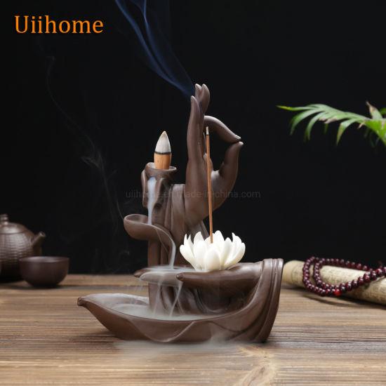 Creative Home Decoration Back-Flow Figure Censer Brings Plant Fragrance for Living Room