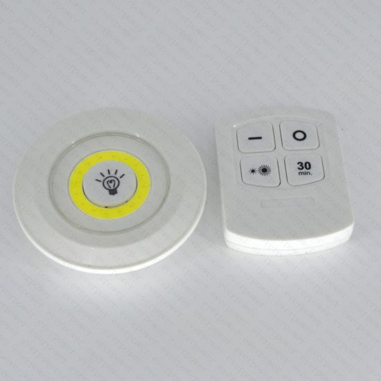 Remote Control Cordless COB LED Switch Night Light pictures & photos