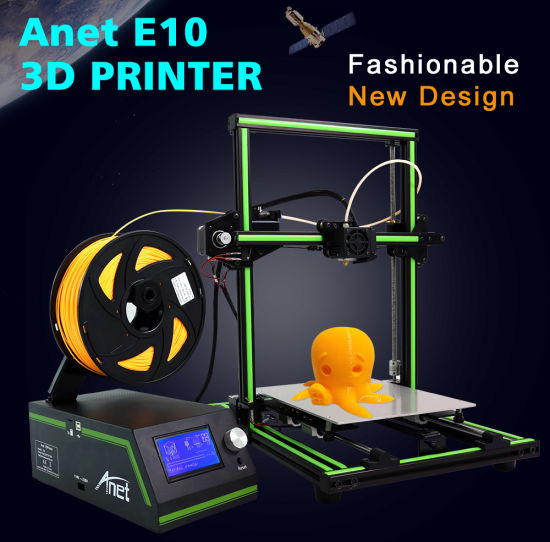 Anet E10 3D Printer with 220X270X300mm Dual Z Axis Rods DIY High Accuracy CNC Self Assembly Multi-Language
