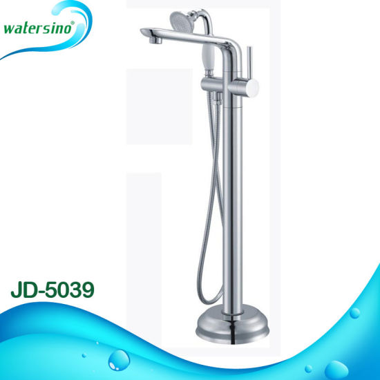 Jd-5032 Hot Sale Bathtub Tap Brass Floor Mounted Flat Bathtub Faucet pictures & photos