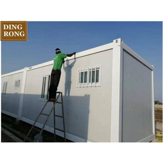 China Modular 50 Sqm Prefab House with 2 Bedrooms Plan