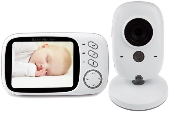 Vb603 2.4GHz 3.2inch LCD Display Wireless Baby Video Monitor with Night Vision pictures & photos