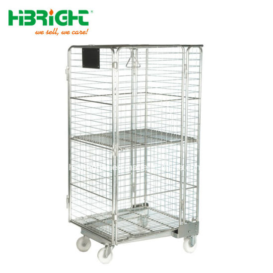 Heavy Duty Storage Trolleys Warehouse Trolley Roll Container Roll Cages Roll Pallet Cage pictures & photos