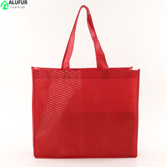 Pattern Nonwoven Bag with Full Gusset Pattern for Commercial Packaging