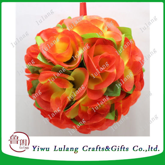 China Wedding Decoration Silk Flower Artificial Rose Flower Ball