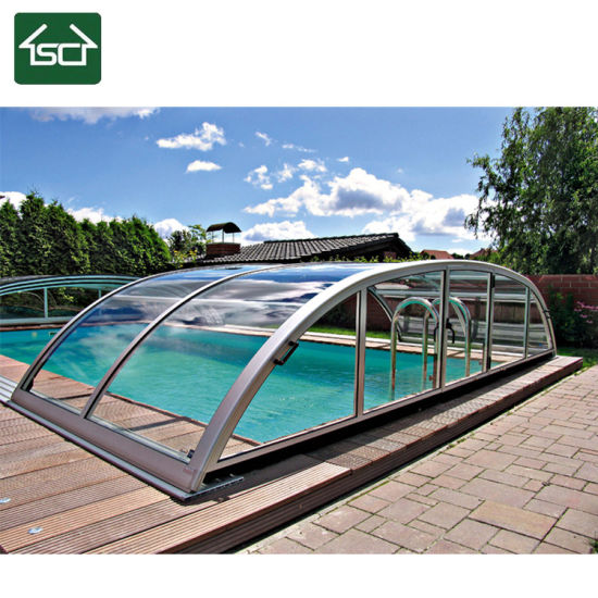 China Retractable Automatic Swimming Pool Covers with ...