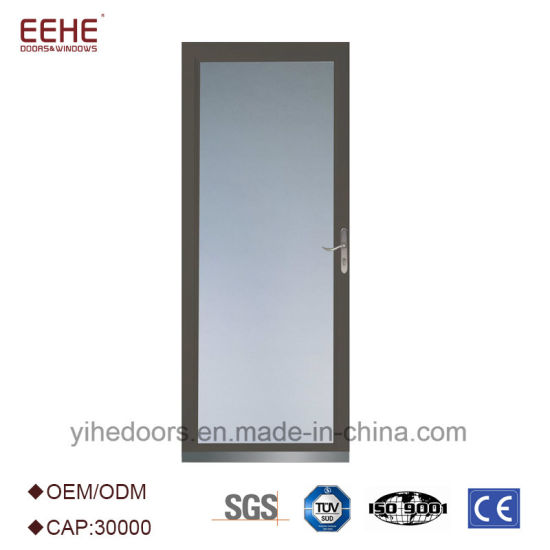 China Strong Aluminum Glass Doors Tempered Glass Inserts For