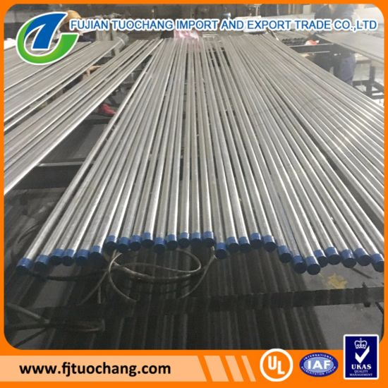 Electrical Galvanized ERW Steel Tube EMT Pipe pictures & photos