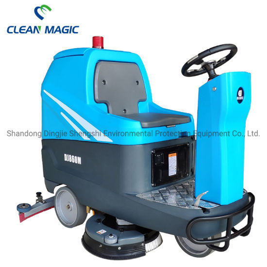 Clean Magic DJ860m Battery Operated Ride on Floor Cleaning Machine Scrubber Dryer Factory Price for Logistics/Warehouse and Epoxy Resin Floor