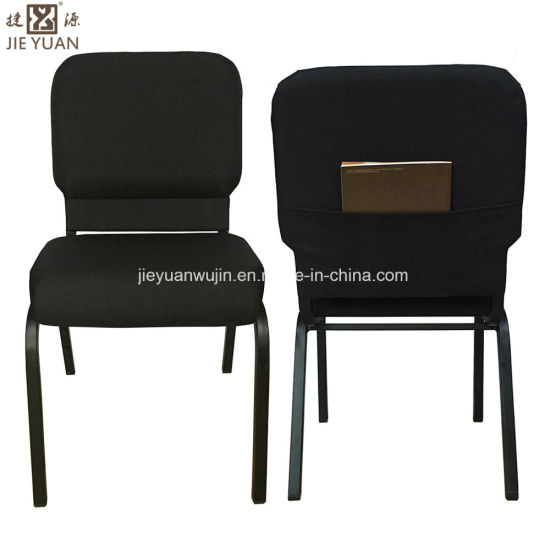 Metal Stacking Covered Back Church Hall Chairs With Pouch