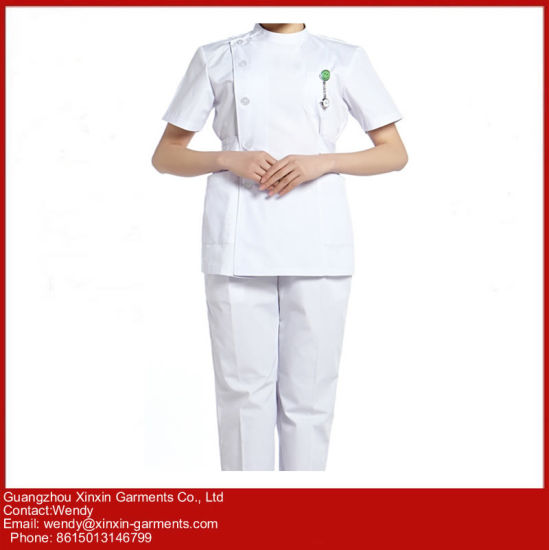 Guangzhou Factory OEM Custom Hospital Doctor Nurse Coat (H3) pictures & photos