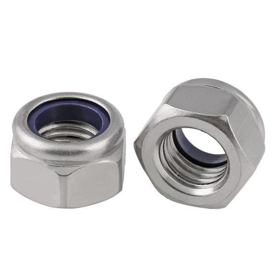 Stainless Steel Hex Nylon Self-Locking Nut