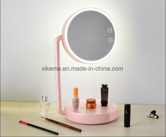 China Beautiful Design Foldable Table Lamp Makeup Mirror Led China Led Mirror Light Vanity Led Mirror Light