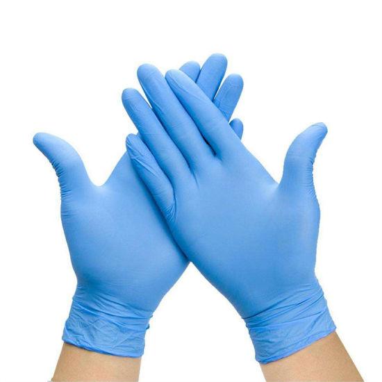 Multifunction Blue Free Powder Medical Examination Hospital Examination Nitrile Glove