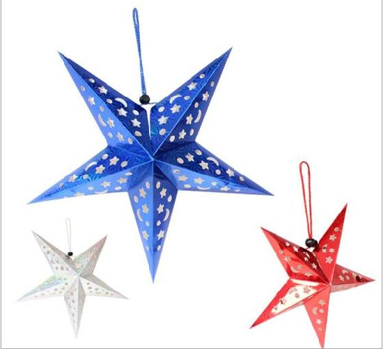Christmas Tree Decorations Radium Paper Star