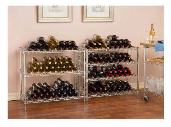 3 Tiers Adjustable Chrome Flat Grape Wine Display Rack pictures & photos