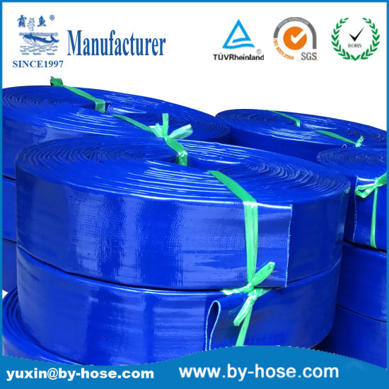 PVC Agriculture Irrigation Mining Lay Flat Water Pool Discharge Flexible Garden Pump Hose pictures & photos