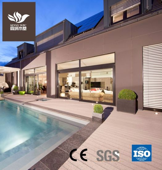 Outdoor WPC Material Wood Plastic Composite Decking for Balcony