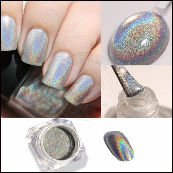 100 Pure Holo Holographic Nails Pigment Gel And No Polish