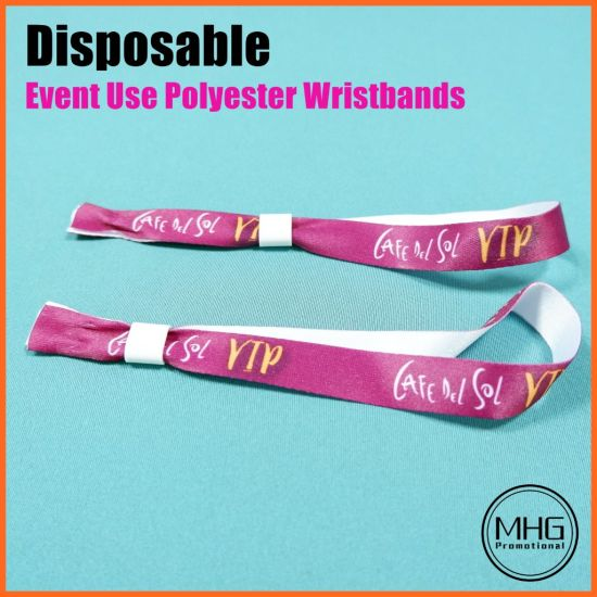 Eco-Friendly Polyester Event Use Wrist Band