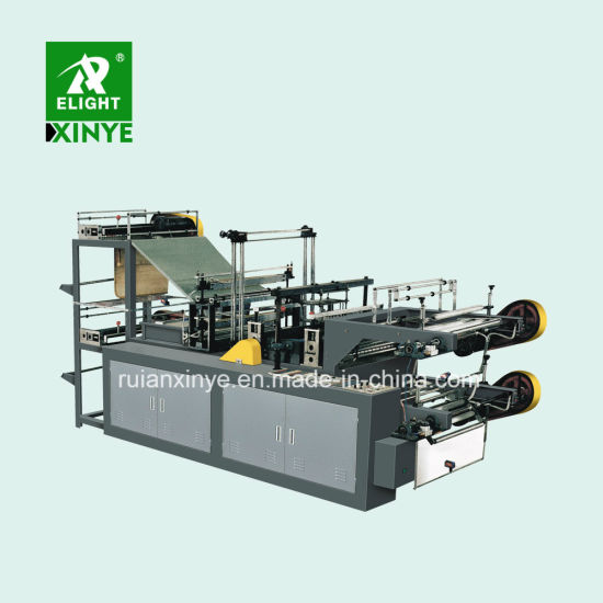 Continuous Roll Garbage T-Shirt Plastic Bags Making Machine
