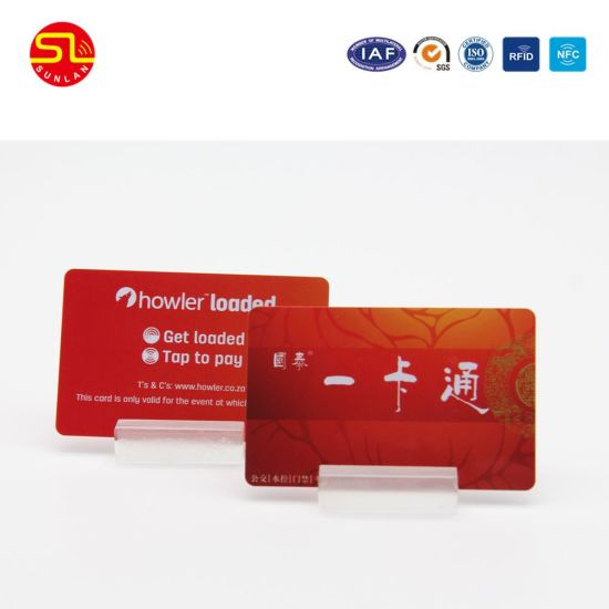 PVC RFID Magnetic Cards with Bardcode From Sunlanrfid pictures & photos