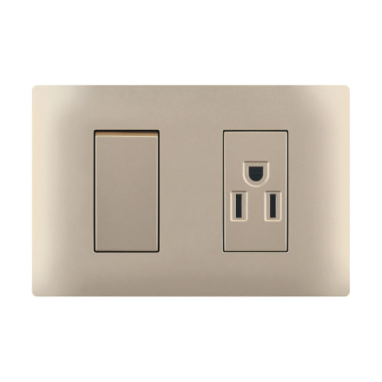 Electric Socket with Switch 1 Way or 2 Way