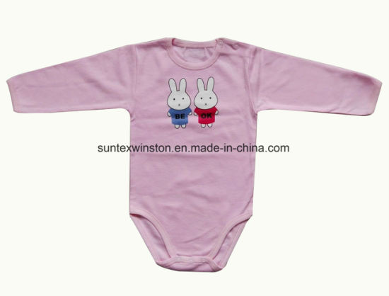 33cd7f3bcd9e0 China 100% Cotton Interlock Fabric Newborn Baby Clothes - China ...
