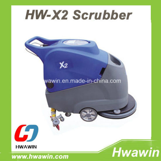 Electric Floor Scrubber Machine (Hand Push Type)