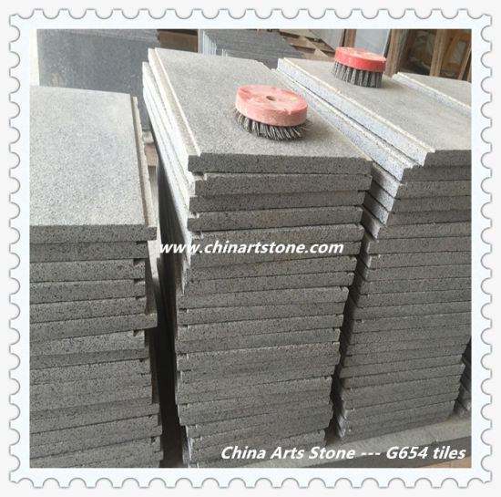 China Flamed Black Grey Granite Tile for Outside Floor pictures & photos