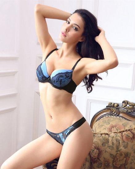 eb20a09867 Europe Sexy Underwear Set Lace Bra and Panty with Push up Pads - China Bra