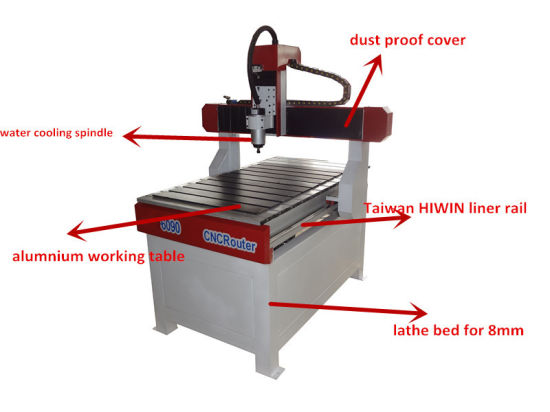 Mini CNC Router Metal 4 Axis for Wood/ MDF Cylinder Cutting pictures & photos