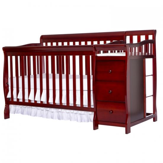 5 in 1 Convertible Crib with Changer