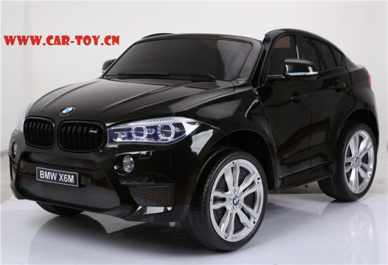 China 12v 2 Seats Bmw X6 Kids Car With Remote Control Plastic Black