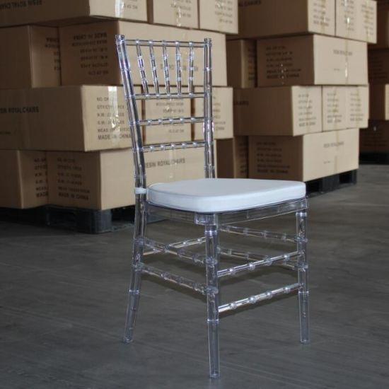 Modern Outdoor Furniture Hotel Wedding Clear Transparent Chair Chiavari