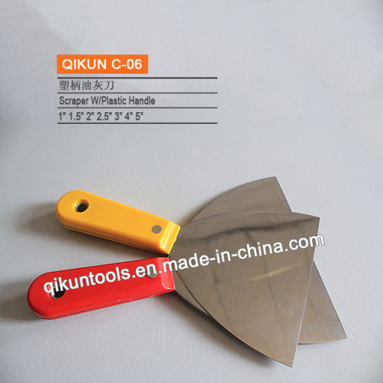 C-17 Construction Decoration Paint Hardware Hand Tools Plastic Handle Mirror Polished Stainless Steel Scraper pictures & photos
