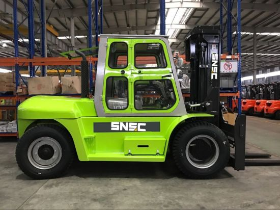 Empilhadeira Diesel 10 Ton Forklift with Side Shifter pictures & photos