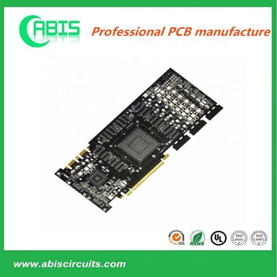 4 Layer HASL Black Solder Mask PCB Printed Circuit Board with Gold Finger for Coffee Machine