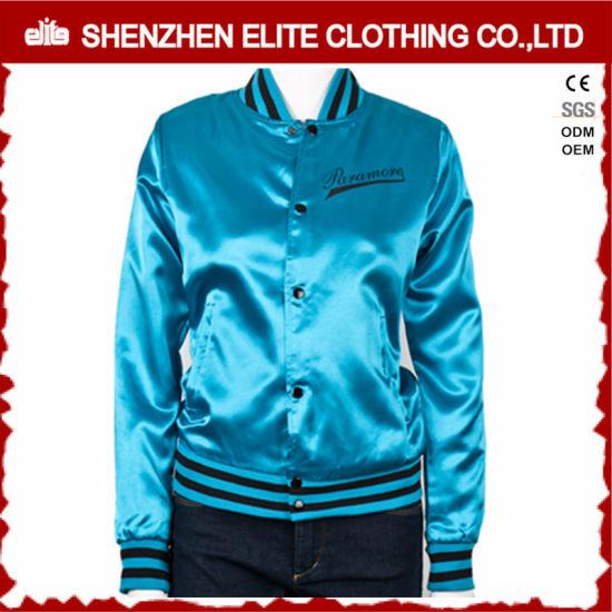 c4fdf2cda Plus Size Custom Embroidery Satin Varsity Jackets for Women